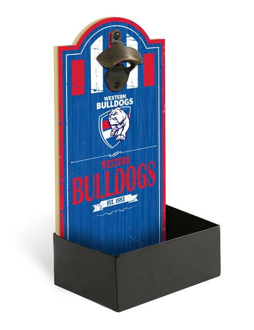 Western Bulldogs Bottle Opener with Catcher