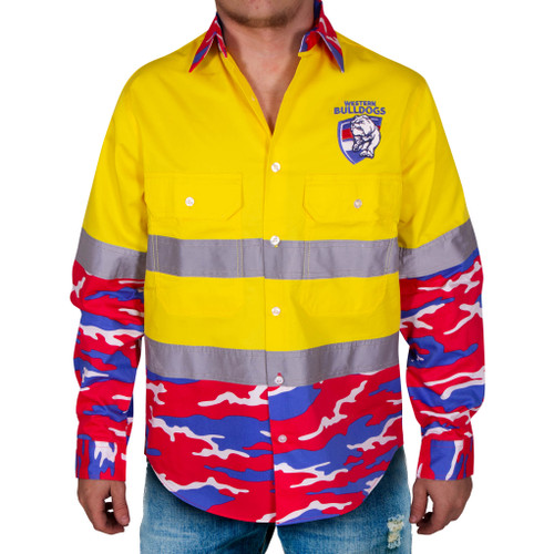 Western Bulldogs Hi-Vis Long Sleeve Shirt