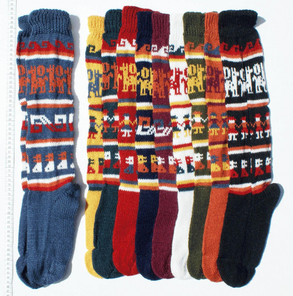 Alpaca Blend Socks Adult Size Multicolor Geometric Designs Assorted