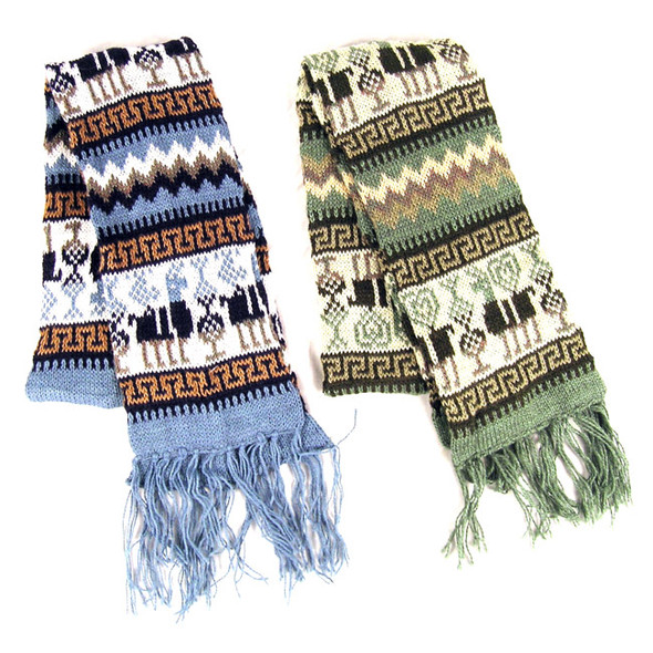 Ten Pack Volume Discount Lot Alpaca Blend Geometric pattern Scarf Buy More and Save!