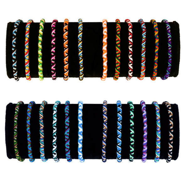 Friendship Bracelets - Tube Bag of 10 Assorted Wholesale