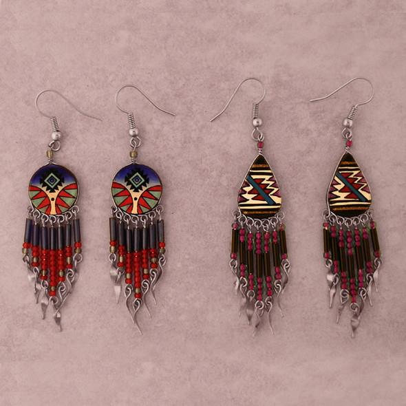 Painted Clay Earrings
