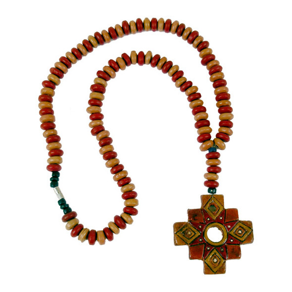 Clay Chacana Beaded Cross
