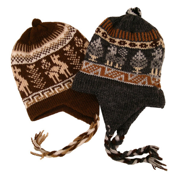 Five Piece Bundle Wholesale Pack Alpaca Blend Child Chullo Hat