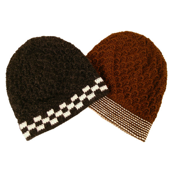 Five Pack Lot Discount Alpaca Heavy Boucle Beanie Hat