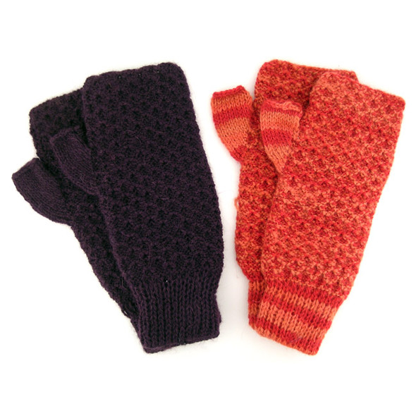 Ten Pack Lot 100% Alpaca Wrist Warmers in 12 Color Assortment