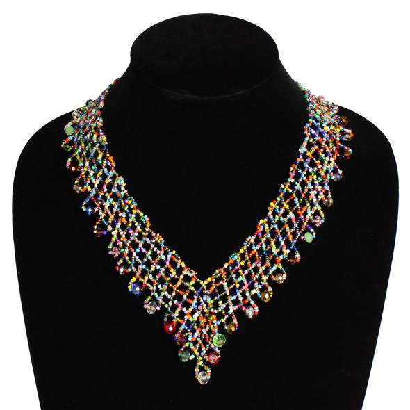 Interwoven Beads Lola Necklace Multi Magnetic Clasp