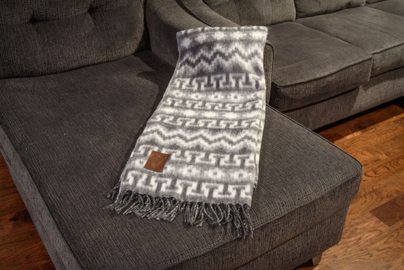 "Woven Alpaca Blend Blanket Reversible Super Soft Brushed Fiber 60"" x 84"""