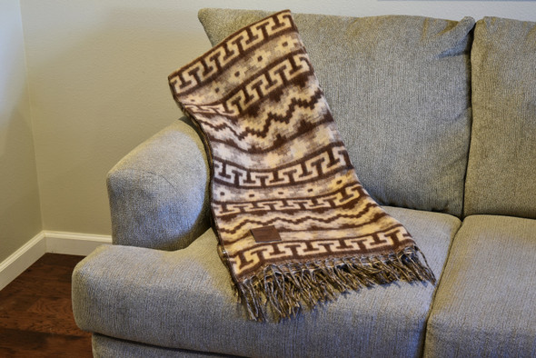For Couch or Bed Alpaca Blend Inca Icons Blanket Throw Timeless Design