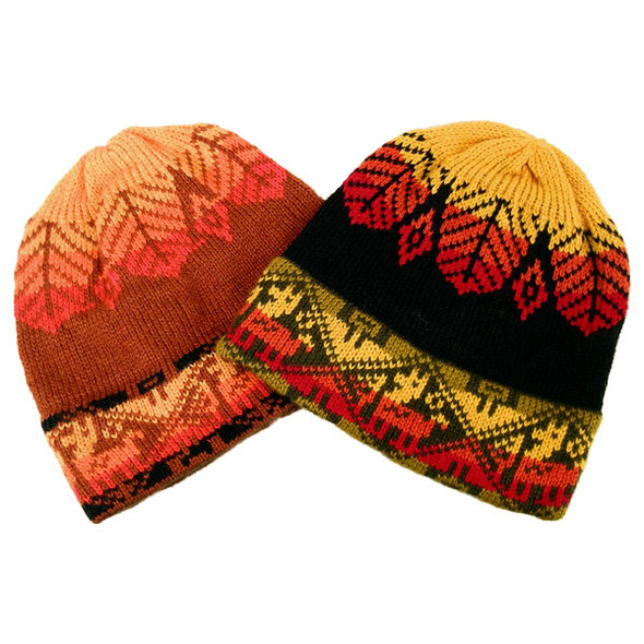 Five Beanie Assortment Multicolored Alpaca Blend Cap Hat