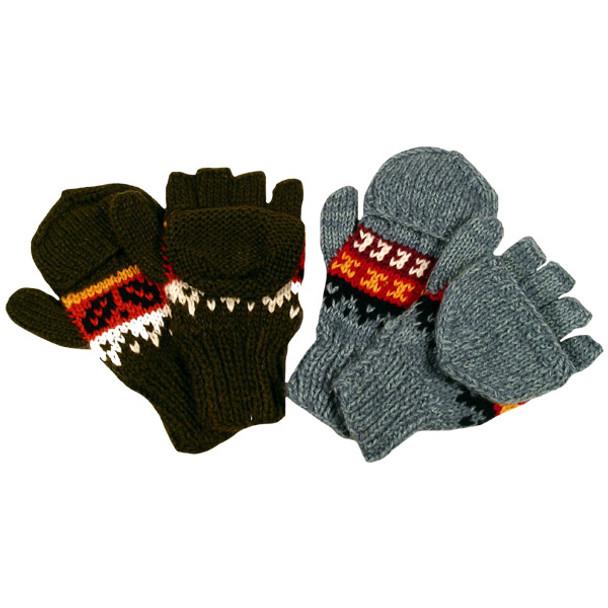 Ten Pack Bulk Price Knit Glittens for Resale