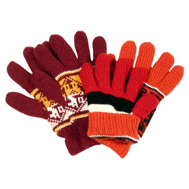 Ten Pack Discount Price Alpaca Blend Knit Reversible Gloves