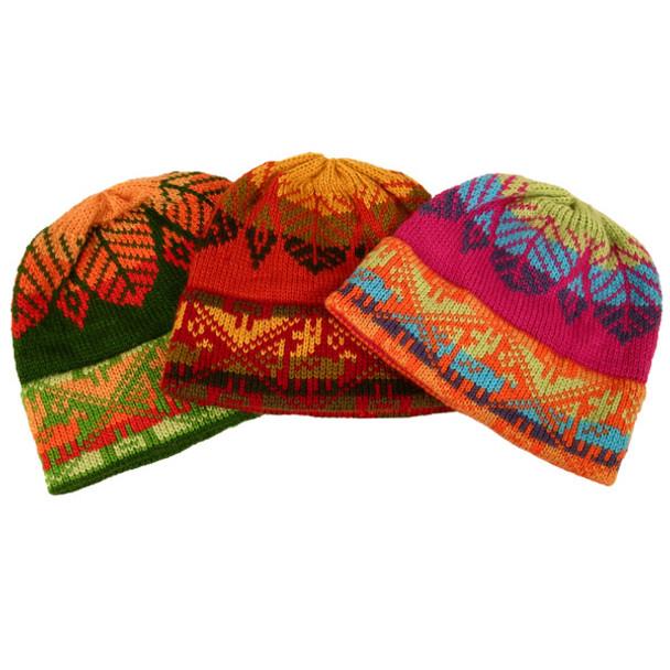 Five Pack Lot Alpaca Blend Child Beanie Hat