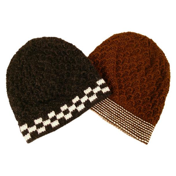 Five Pack Lot Discount Alpaca Heavy Boucle Beanie Hat