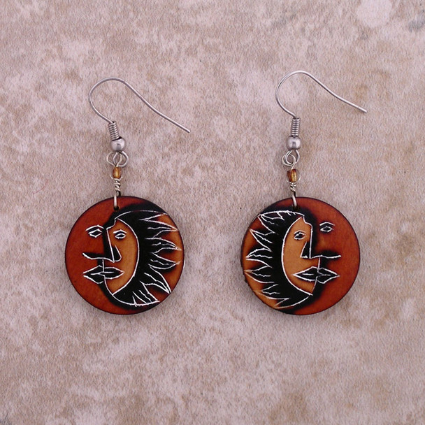 Gourd Chip Earrings - Eclipse Natural Shades