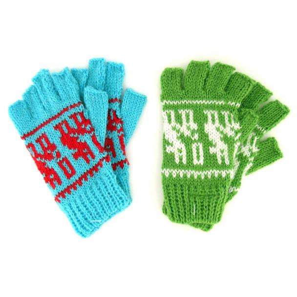 Ten Pack Bulk Price Alpaca Blend Child Fingerless Gloves