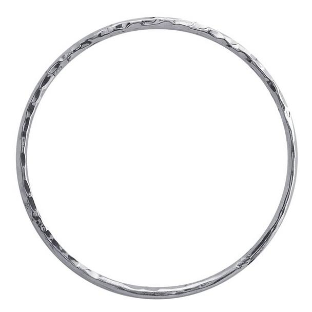 "Bangle Hammered Bracelet alpaca Silver Medium 8"""