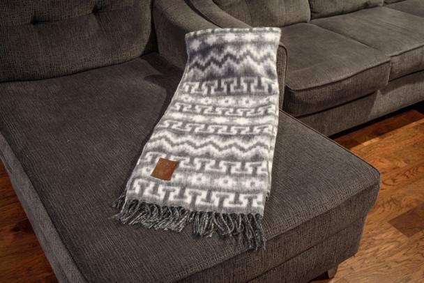 "Woven Alpaca Blend Blanket Reversible Super Soft Brushed Fiber 60"" x 84"""