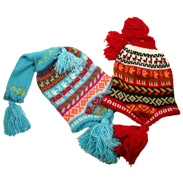 Alpaca Blend Adjustable Cone Chullo Hat