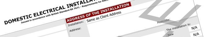 Electrical Installation Certificate