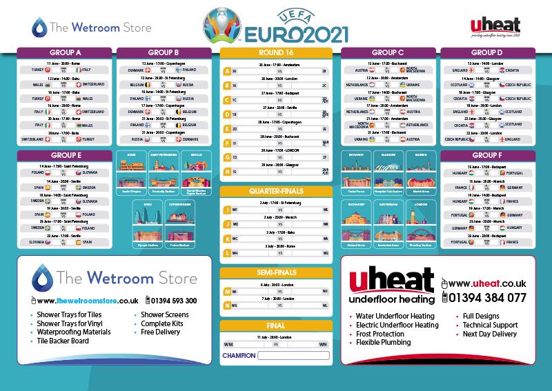 Euro 2021 Wall Chart