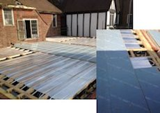 First floor underfloor heating with spreader plates