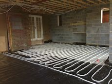 Ground floor underfloor heating fro screed