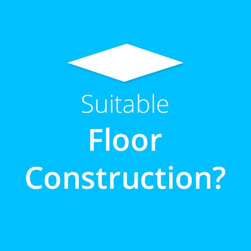 Suitable Floor Constructions for Water Underfloor Heating