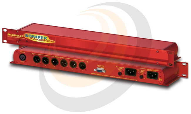 Sonifex 6 Way Stereo AES/EBU Digital Distribution Amplifier with Dual Power Supplies - Image 1