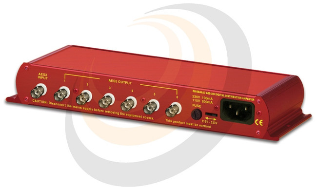 Sonifex 6 Way Stereo AES3ID Digital Distribution Amplifier (24 bit, 96kHz Capable) - Image 1