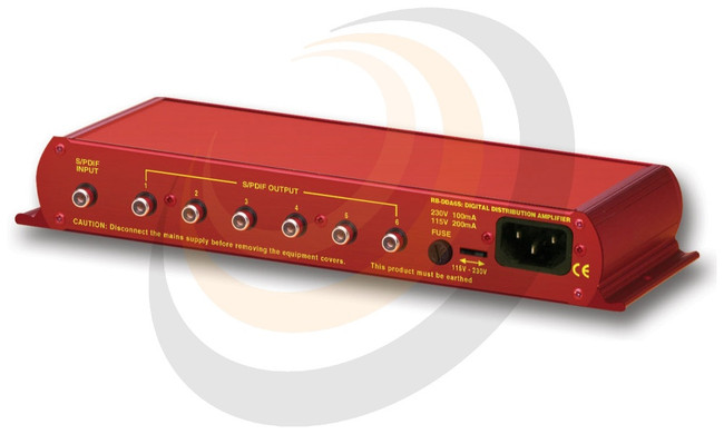 Sonifex 6 Way Stereo S/PDIF Digital Distribution Amplifier (24 bit, 96kHz Capable) - Image 1
