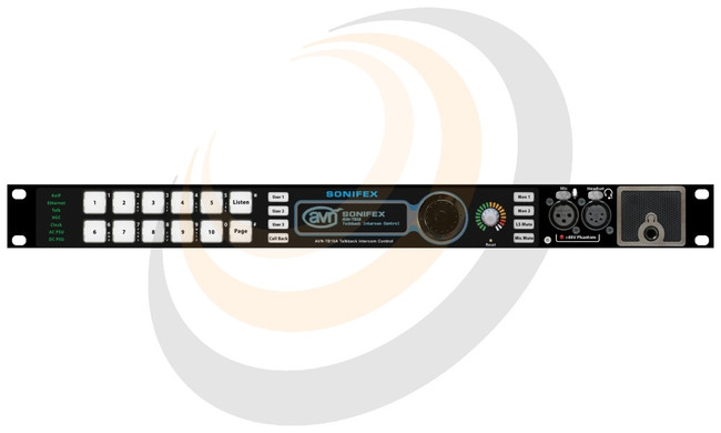 10 Button Talkback Intercom Advanced, Rackmount - Image 1