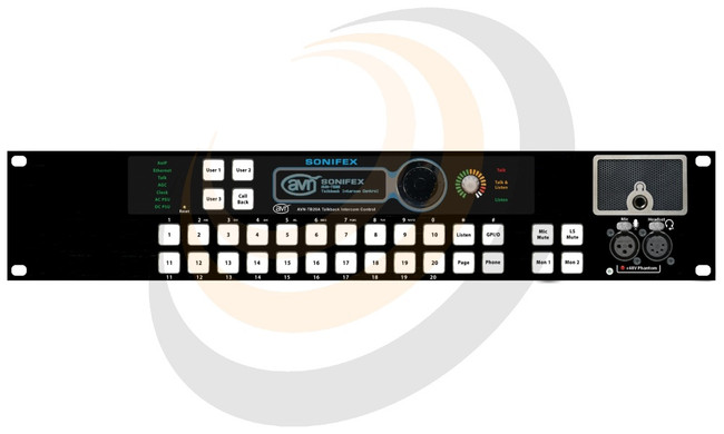 20 Button Talkback Intercom Advanced, Rackmount - Image 1