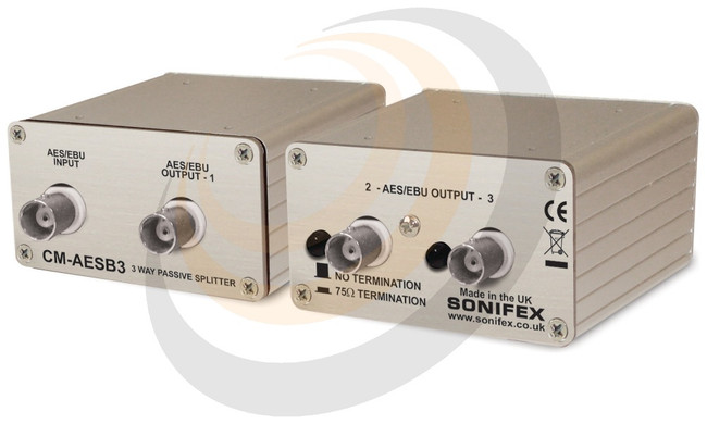 Sonifex Single 3 Way Passive AES3ID Splitter With BNC Connectors - Image 1