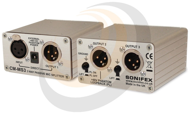 Single 3 Way Passive Microphone Splitter - Image 1