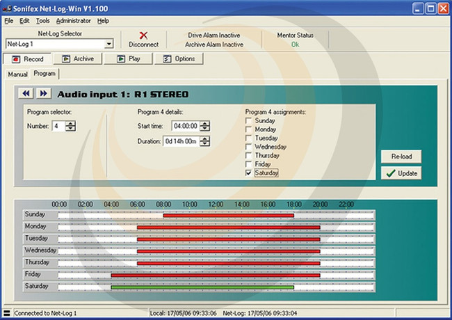 Sonifex Net-Log-Win Windows Software - 2 Stream License - Image 1