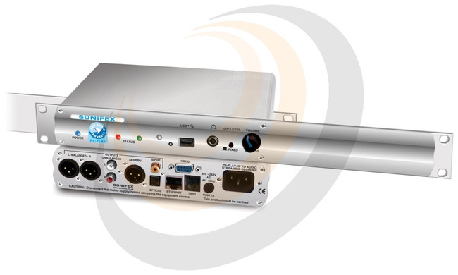 IP to Audio Streaming Decoder 1U Rackmount - Image 1