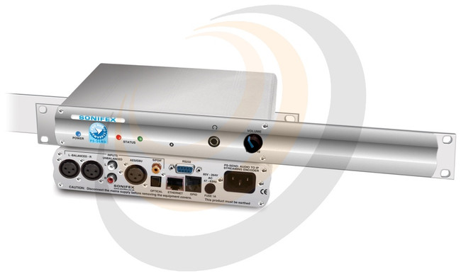 Audio to IP Streaming Encoder Silence Detect 1U Rackmount - Image 1