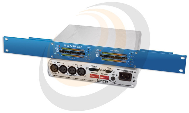 Sonifex Reference Monitor 2 Stereo 53 Segment Meter Rack-mount - Image 1