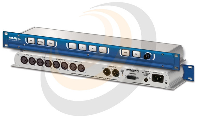 Sonifex Monitor Controller 4 Stereo Inputs With Light Control - Image 1