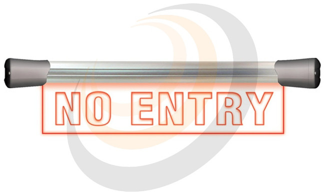 Sonifex LED Single Flush Mounting 40cm NO ENTRY sign - Image 1