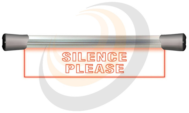 Sonifex LED Single Flush Mounting 40cm SILENCE sign - Image 1