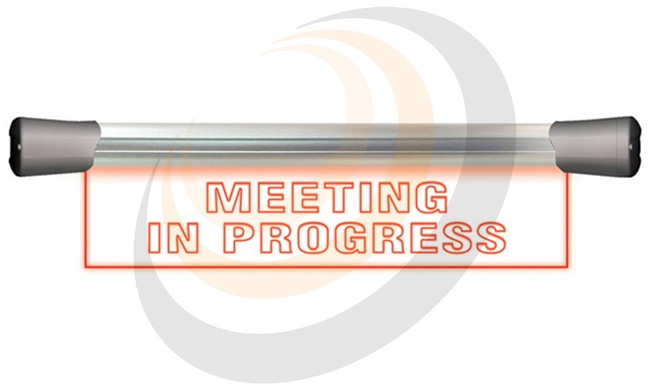 Sonifex LED Single Flush Mounting 40cm MEETING IN PROGRESS sign - Image 1