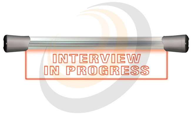 Sonifex LED Single Flush Mounting 40cm INTERVIEW IN PROGRESS sign - Image 1