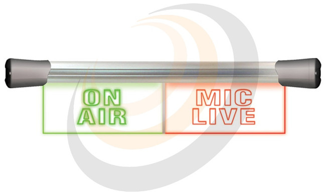 Sonifex LED Twin Flush Mounting 2 x 20cm ON AIR & MIC LIVE sign - Image 1