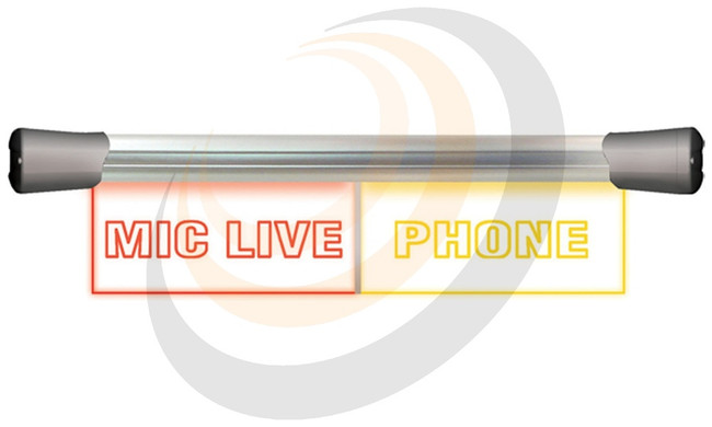 Sonifex LED Twin Flush Mounting 2 x 20cm MIC LIVE & PHONE sign - Image 1