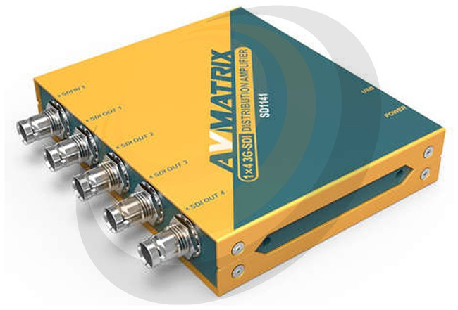 AVMATRIX SD1141 3G-SDI 1×4 Reclocking Distribution Amplifer - Image 1