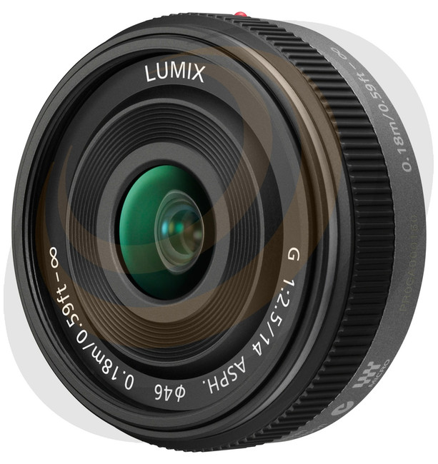Lumix G 14mm/F2.5 MkII Aspherical lens in Black - Image 1