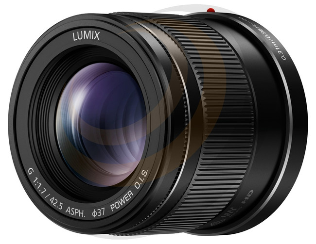 Lumix G 42.5mm/F1.7 Aspherical lens with Power O.I.S in Black - Image 1