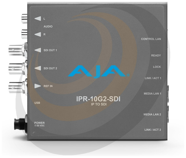 AJA Single Channel SMPTE ST 2110 Video and Audio IP Decoder to SDI - Image 1